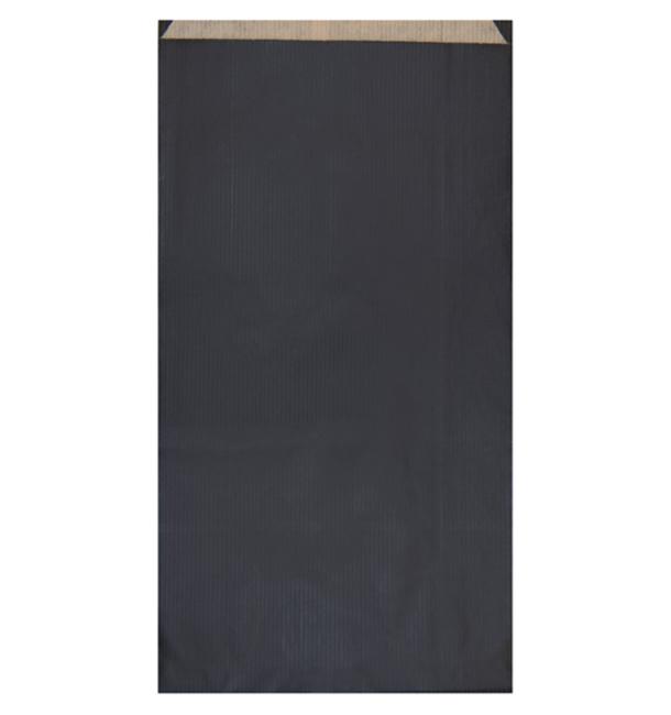 Papiertüten Kraft Schwarz 19+8x35cm (250 Einh.)