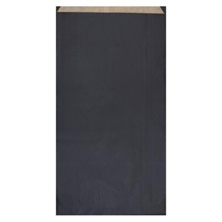 Papierumschlag Kraft Schwarz 19+8x35cm (125 Stück)