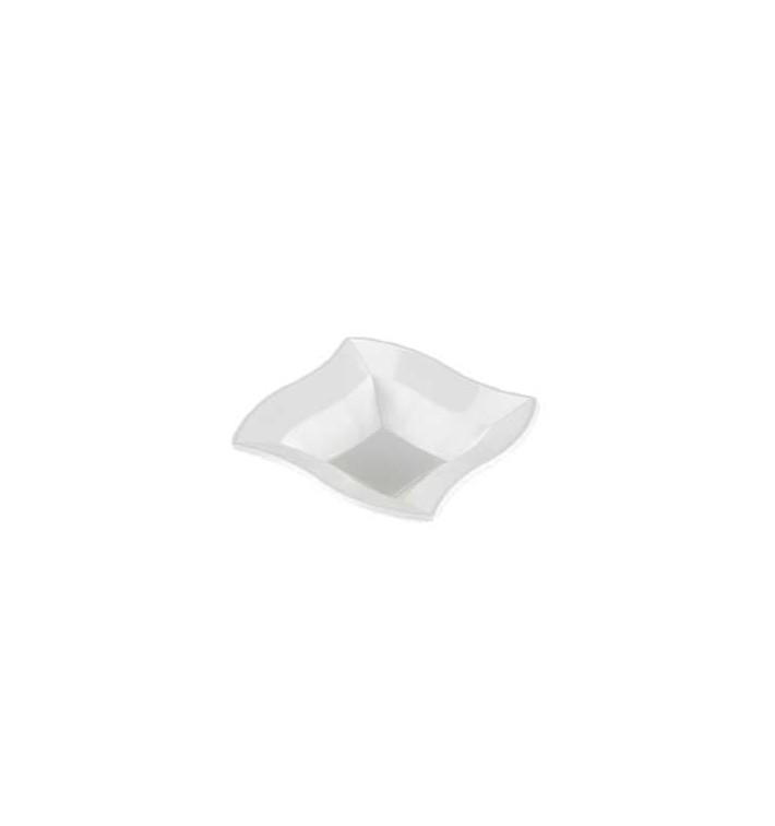 """Viereckige Plastikschale """"Welle"""" weiß 18x18cm (360 Stück)"""