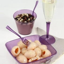 Plastiklöffel aubergine 160mm (10 Einheiten)