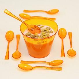 Plastiklöffel orange 160mm (10 Einheiten)