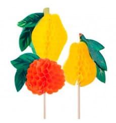 Deko-Picker Frucht 10 cm (100 Einheiten)