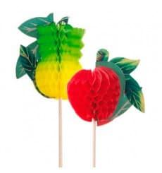 Deko-Picker Frucht 20 cm (100 Einheiten)