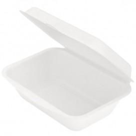 Zuckerrohr-Fasern Menübox Weiß 136x182x64mm (1.000 Einh.)