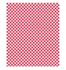Wachspapier fettdicht für Burger Rot 31x31cm (1.000 Stück)