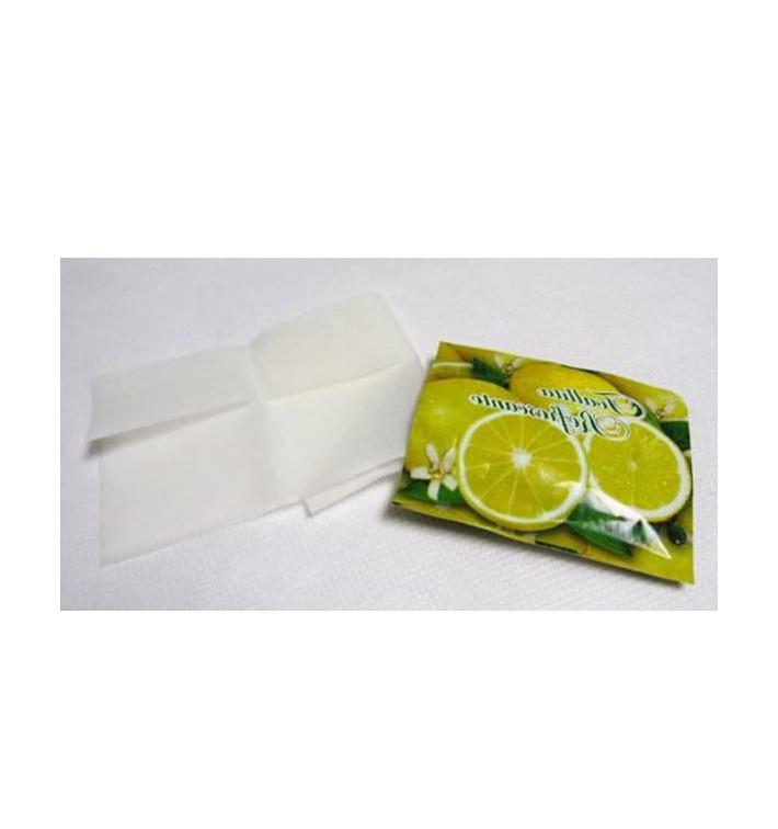 Toallitas Refrescantes Limón Estuches de 100 uds (500 Unidades)