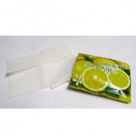 Erfrischungstücher mit Ztronenmotiv in Box (100 Stück)
