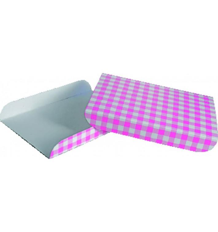 Pappschale pink für Waffeln 13,5x10cm (1.500 Stück)