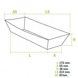Hot-Dog-Tray 17x5,5x3,8cm (600 Einheiten)