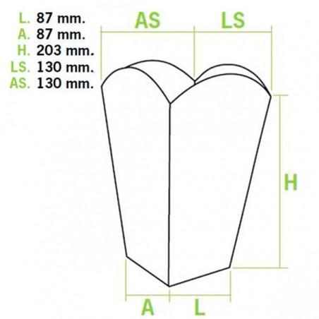 Popcorn box Groß 150gr. 8,78x13x20,3cm (50 Einheiten)