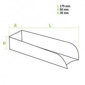 Hot-Dog Karton Kraft 17x5x3,5cm (1.000 Einh.)