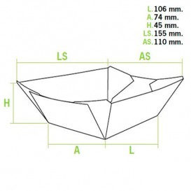 Pommesschale Kraft 350ml 10,6x7,3x4,5cm (25 Einheiten)