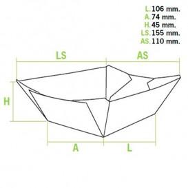 Pommesschale Kraft 350ml 10,6x7,3x4,5cm (1.000 Einh.)