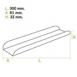 Tray für Baguette Kraft Verpackung 30x6,1x3,2cm (1.000 Einh.)