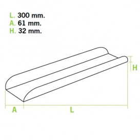 Tray für Baguette Verpackung 30x6,1x3,2cm (50 Einh.)