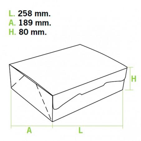 Gebäck-karton weiß 25,8x18,9x8cm (5 Einh.)