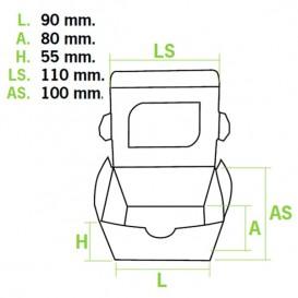 Verpackung aus Karton mit Sichtfenster 11x10x5,5cm (10 Einh.)
