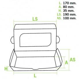 Verpackung aus Karton mit Sichtfenster 19x10x3,5cm (10 Einh.)