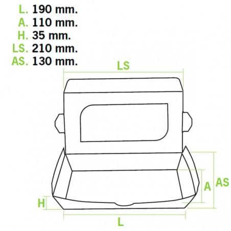 Verpackung aus Karton mit Sichtfenster 21x13x3,5cm (300 Einh.)