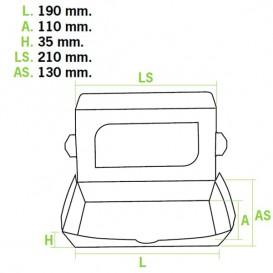 Verpackung aus Karton mit Sichtfenster 21x13x3,5cm (10 Einh.)