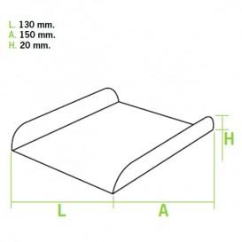 Pappschale weiß für Waffeln 15x13x2 cm (1.500 Einh.)