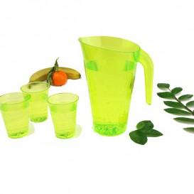 Plastik Krug grün Unzerbrechbar 1.500ml (20 Einheiten)