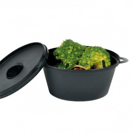 Topf mit Deckel zum Servieren von Fingerfood Schwarz 15,6x10,1cm (144 Stück)