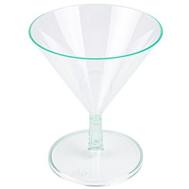 "Transp. Grün Plastikschüssel ""MARTINI"" oder Cocktail 65ml (12 Einh.)"