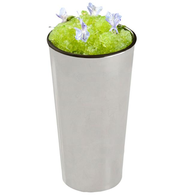 PlastikBecher Verkostung Mini Rohr Silber 60ml 3,5x9cm (50 Einh.)