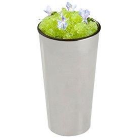 PlastikBecher Verkostung Mini Rohr Silber 60ml 3,5x9cm (500 Einh.)