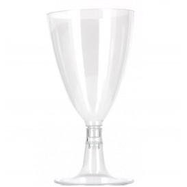 Plastikglas mit Fuβ für Wasser & Wein 140ml 2T (600 Stück)