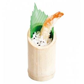 Becher aus Bamboo Verkostung Abgestumpft 5x9cm (10 Einh.)