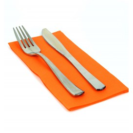 Papierservietten orange 1/8 40x40cm 2-lagig (1.200 Einh.)