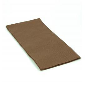 Papierservietten braun 1/8 40x40cm 2-lagig (50 Einh.)