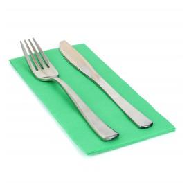 Papierservietten grasgrün 40x40cm 1/8 2-lagig (50 Stück)