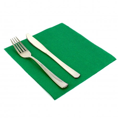 Papierservietten dunkelgrün 40x40cm 2-lagig (50 Einh.)