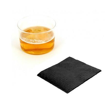 """Papierservietten """"Cocktail"""" schwarz 20x20cm (100 Einh.)"""