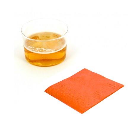 """Papierservietten """"Cocktail"""" orange 20x20cm (3.000 Einh.)"""