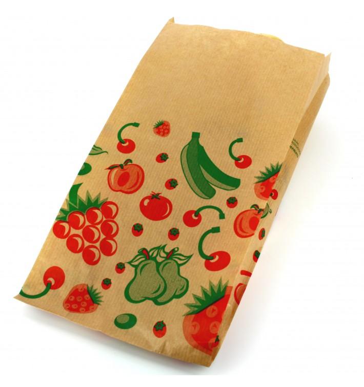 Papiertüten kraft für Obst 14+7x28cm (1.000 Einh.)