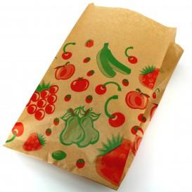 Papiertüten kraft für Obst 22+12x36cm (100 Einh.)