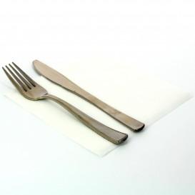 Papierservietten weiß 33x33cm 1-lagig (100 Einh.)