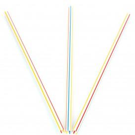 Trinkhalme starr farbig gestreift Ø6mm 20cm (12.000 Stück)